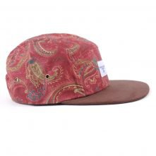 suede brim 5 panels hats custom