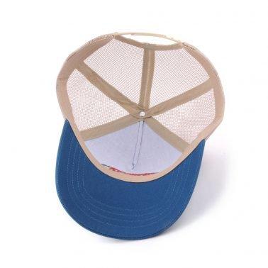 5 panel embroidery sports mesh trucker cap