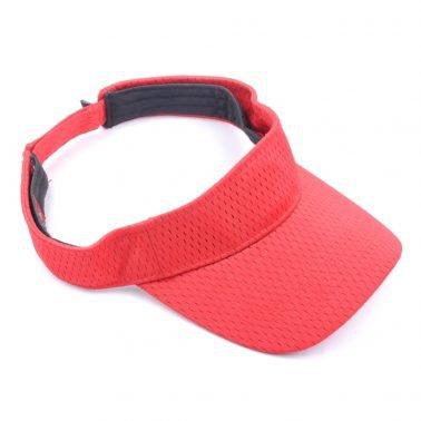 plain blank red sports visor hats