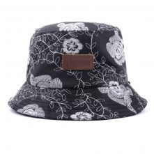 aungcrown logo printed fabric bucket hat