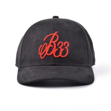 3d embroidery black suede baseball caps