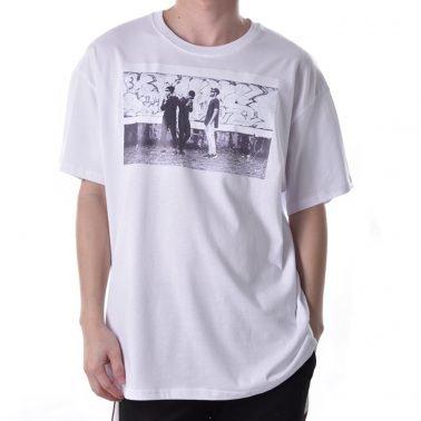 custom white printing logo cotton tshirt