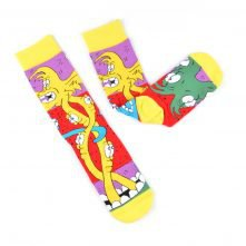 Jacquard Cartoon Colorful Custom Logo Socks