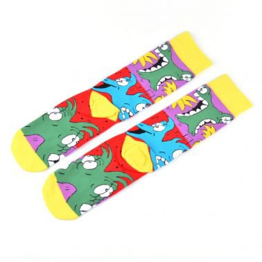 Jacquard Cartoon Colorful Custom Logo Socks