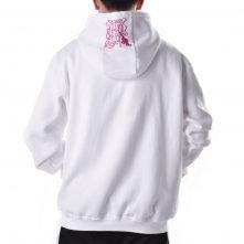 fashion streetwear embroidery white mens hoodie