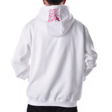fashion streetwear embroidery white mens hoodie