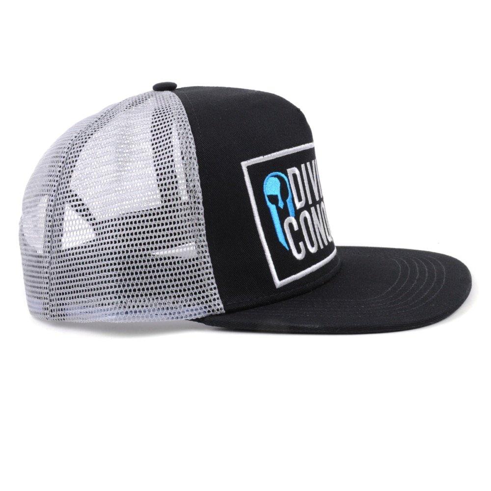 embroidery logo black trucker cap mesh hat