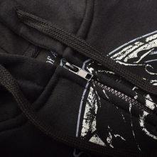 Long Sleeve Printed Custom Black Zip up Hoodies & Jackets