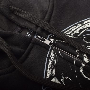 Long Sleeve Printed Custom Black Zip up Hoodies & Jackets