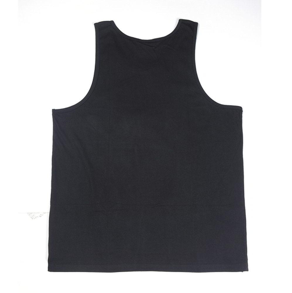 printing logo black mens tank top