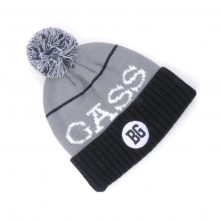 jacquard logo pom pom warm winter beanies hats