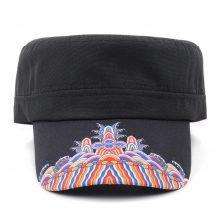 plain black military caps design logo custom china