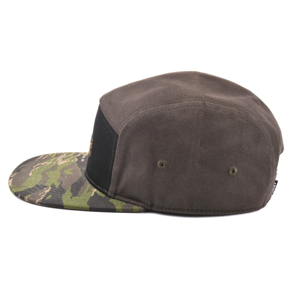 cotton woven patch 5 panels cap