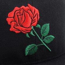 embroidery logo plain black snapback hats