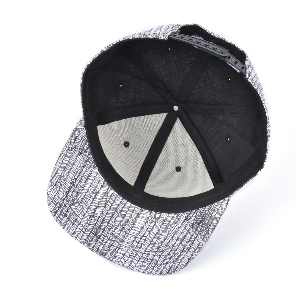 3d embroidery 6 panels flat brim snapback hats
