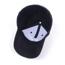 custom 3d embroidery black fitted baseball caps