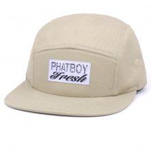 custom woven label plain 5 panels caps