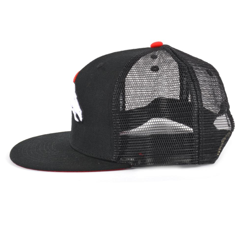 embroidery black snapback trucker caps