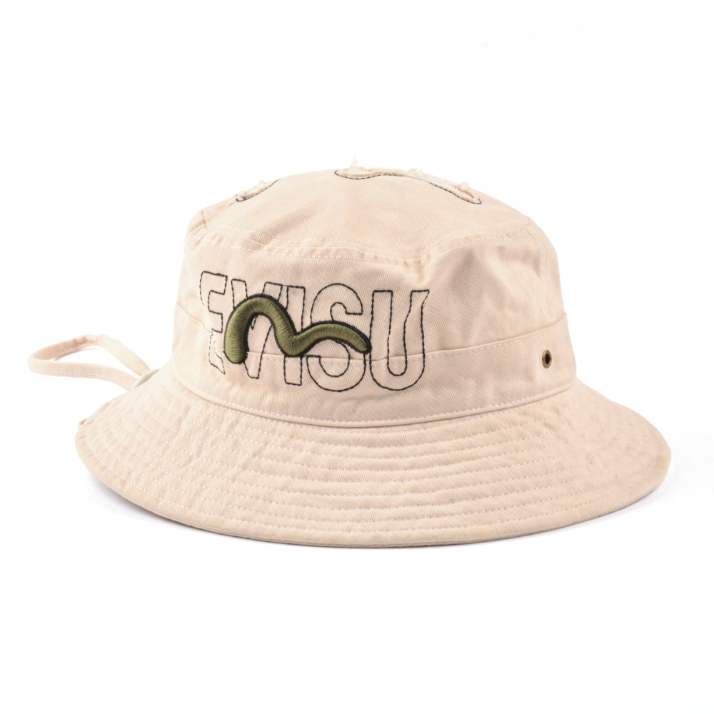 embroidery piping bucket hats custom