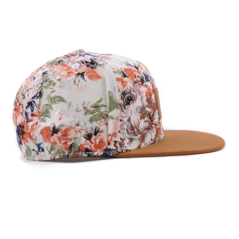 leather patch suede brim printing snapback caps