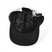 black suede 5 panels printing caps