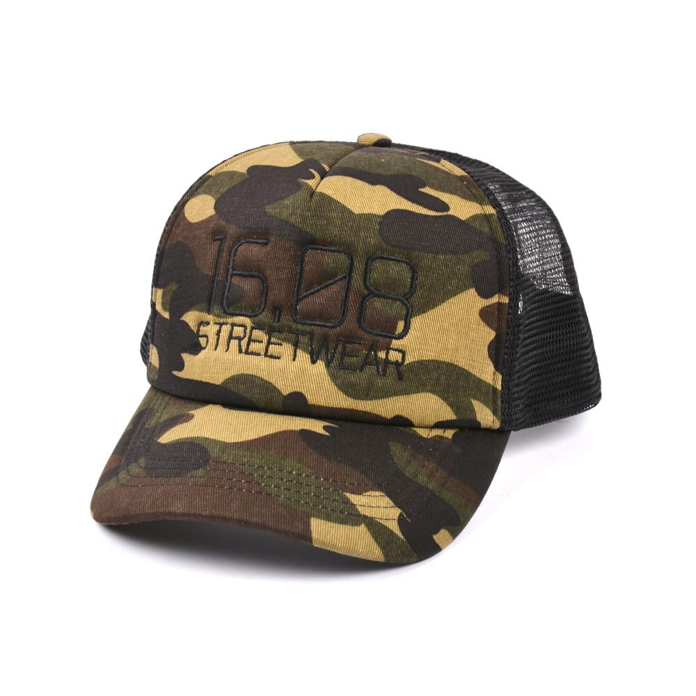 plain camo printing embroidery trucker baseball caps