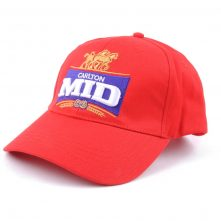 high quality embroidery sports red baseball caps