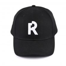 letters embroidery black cotton baseball caps