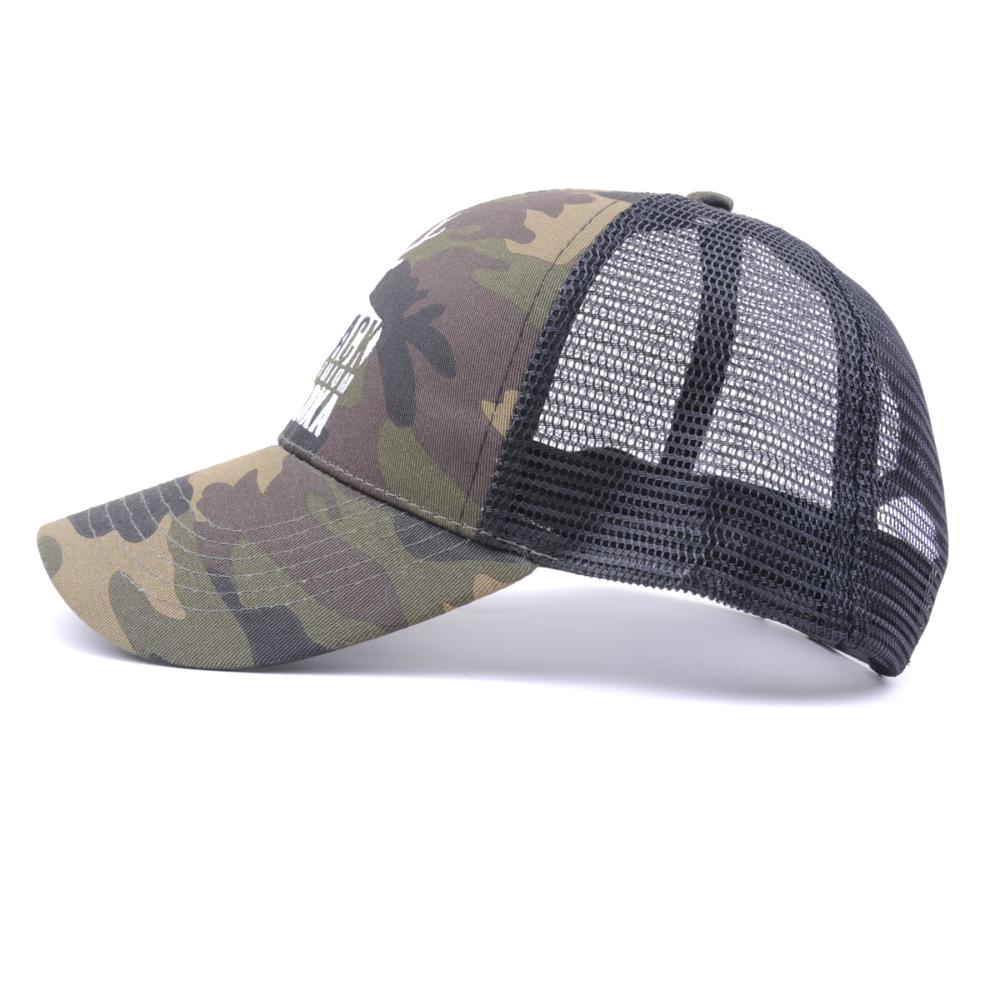 plain embroidery camo sports baseball trucker caps