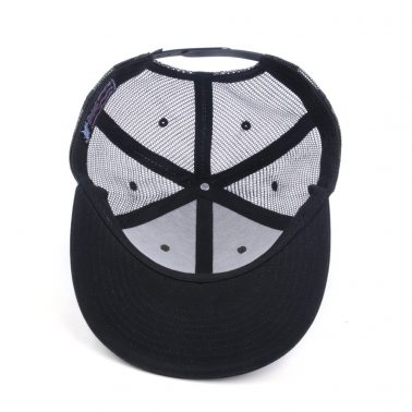 plain embroidery flat brim snapback trucker caps