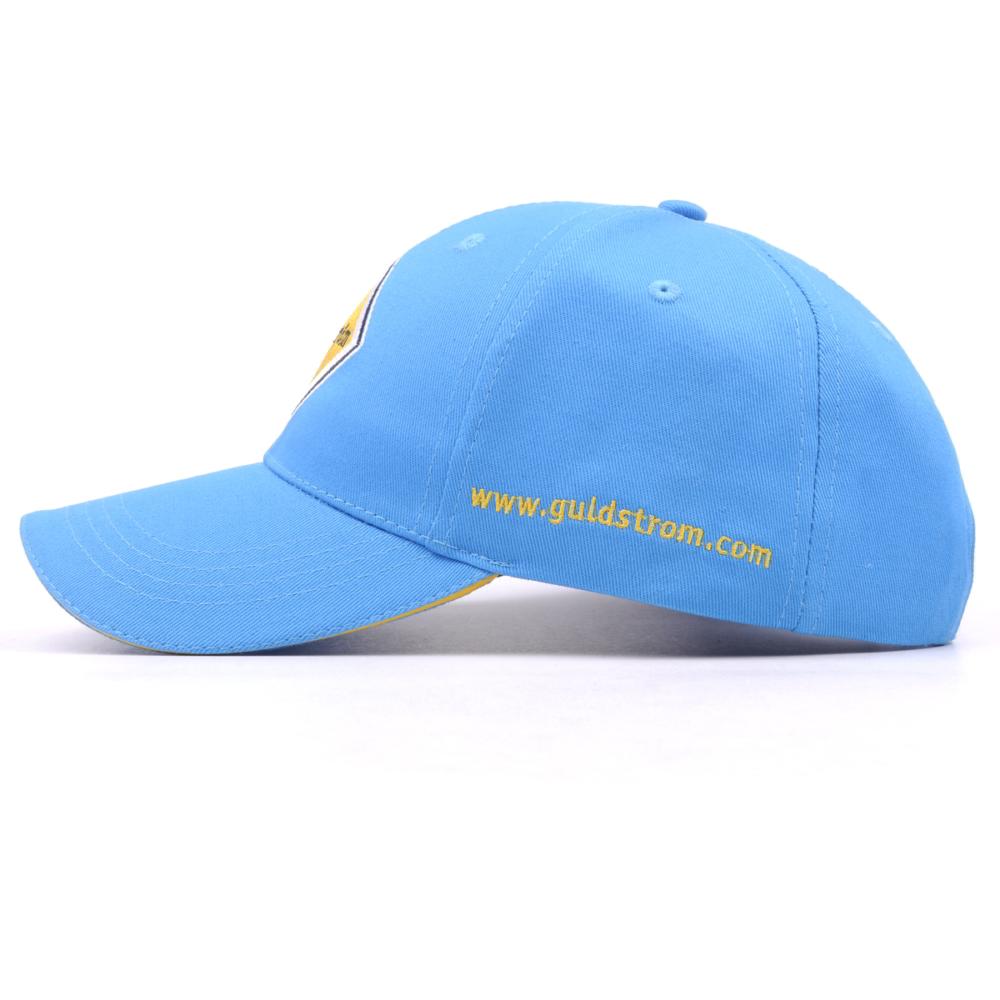 plain embroidery sandwich brim blue baseball caps