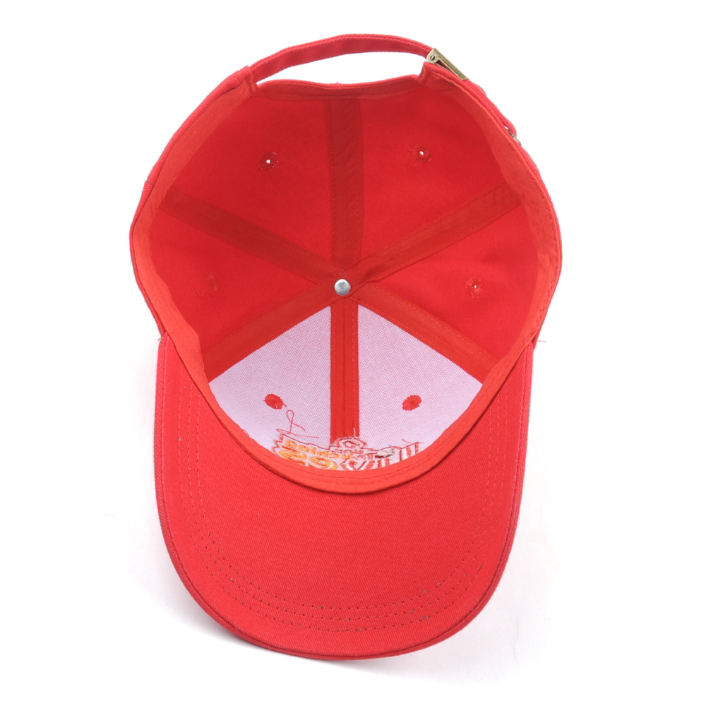 puff embroidery sports red baseball caps