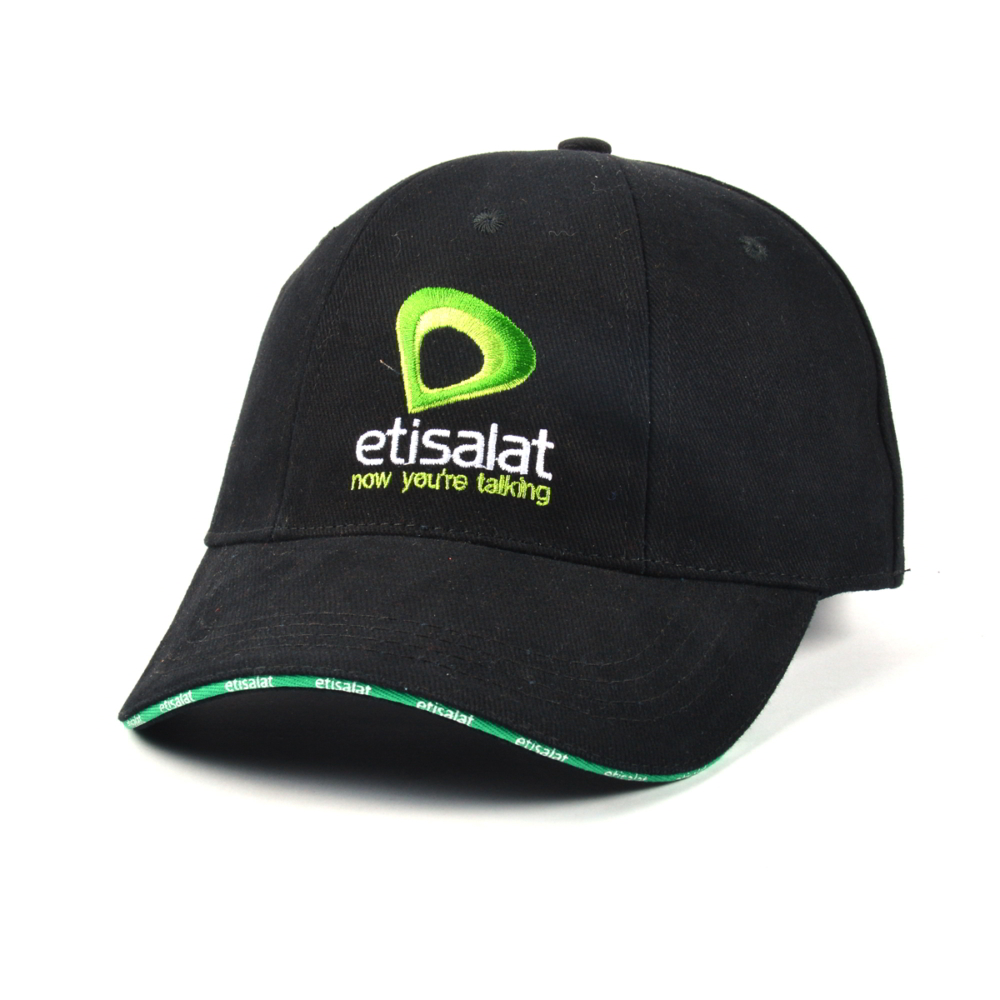 sandwich brim black embroidery baseball caps