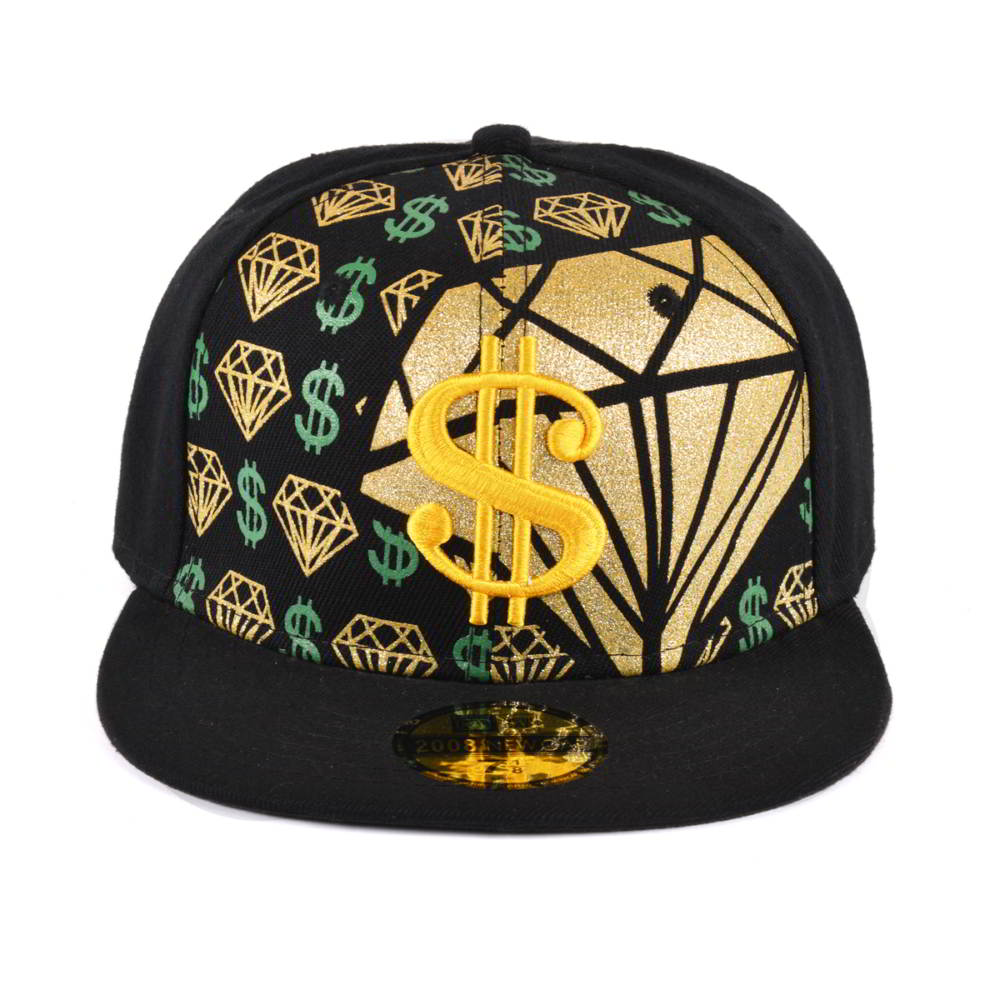3d embroidery flat fitted snapback hats