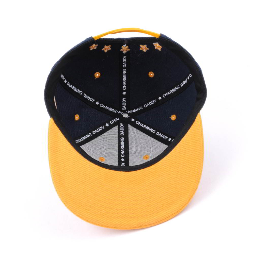6 panels embroidery patch snapback caps