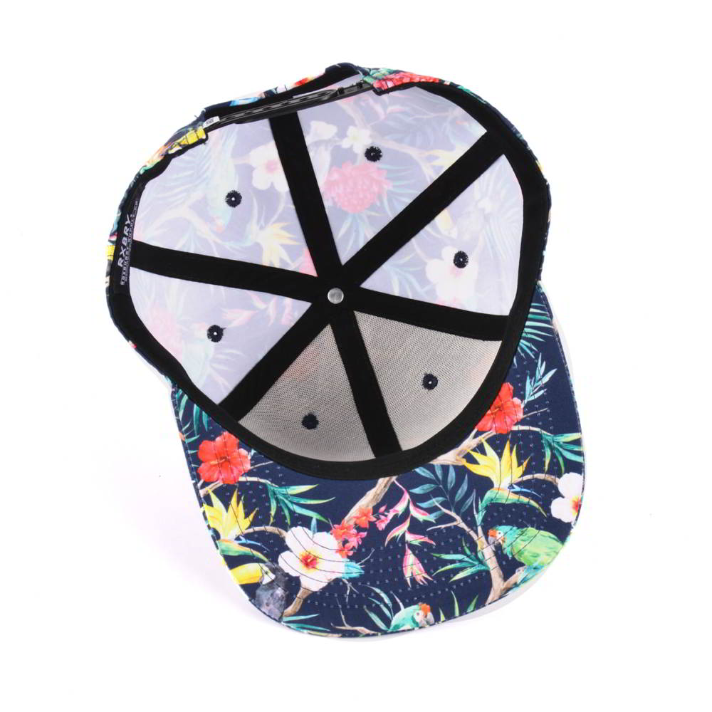6 panels printed snapback caps custom