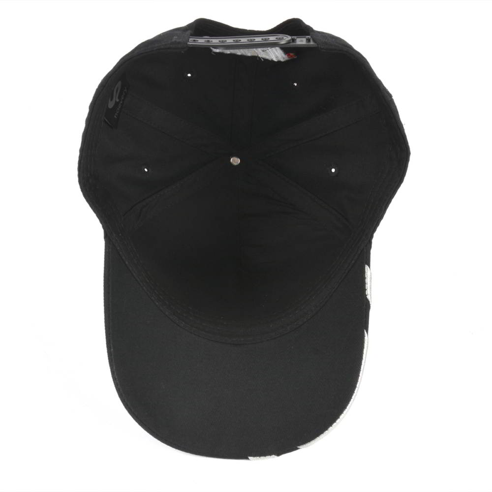 black baseball cap custom sports caps embroidery logo