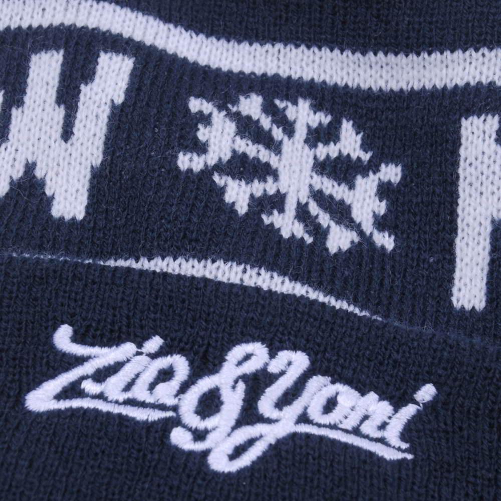 design jacquard logo winter pom pom beanies hats