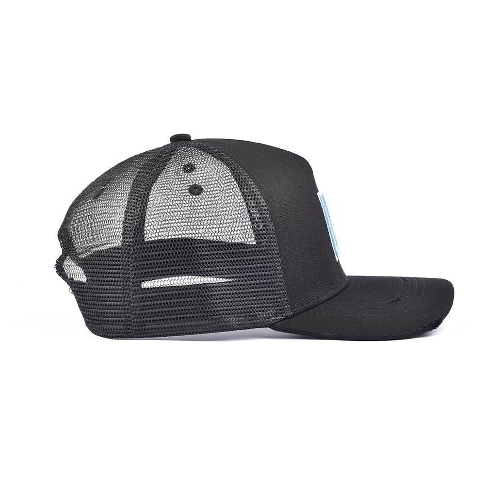 distressed brim sports baseball trucker caps