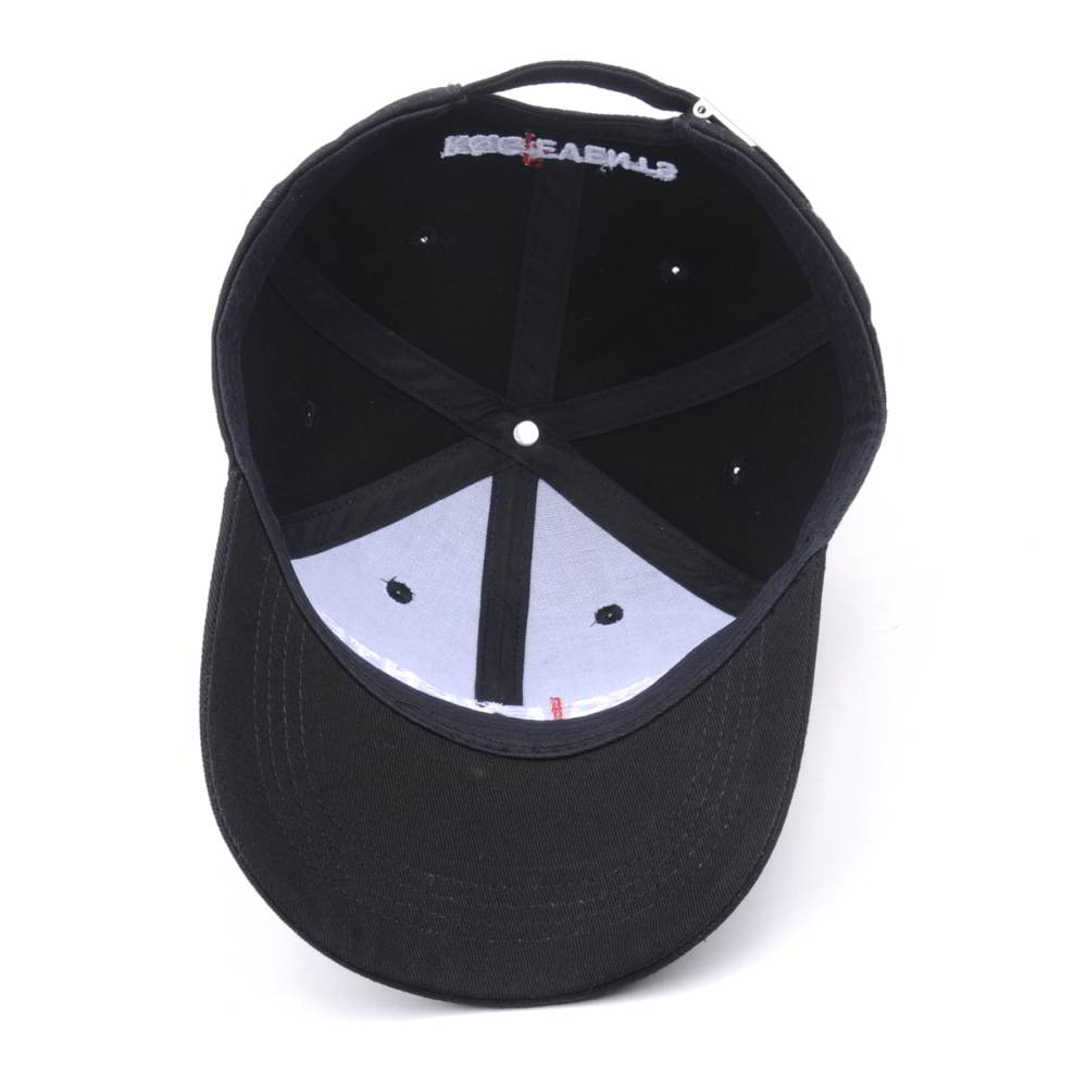 embroidery letters logo black baseball caps sports hats