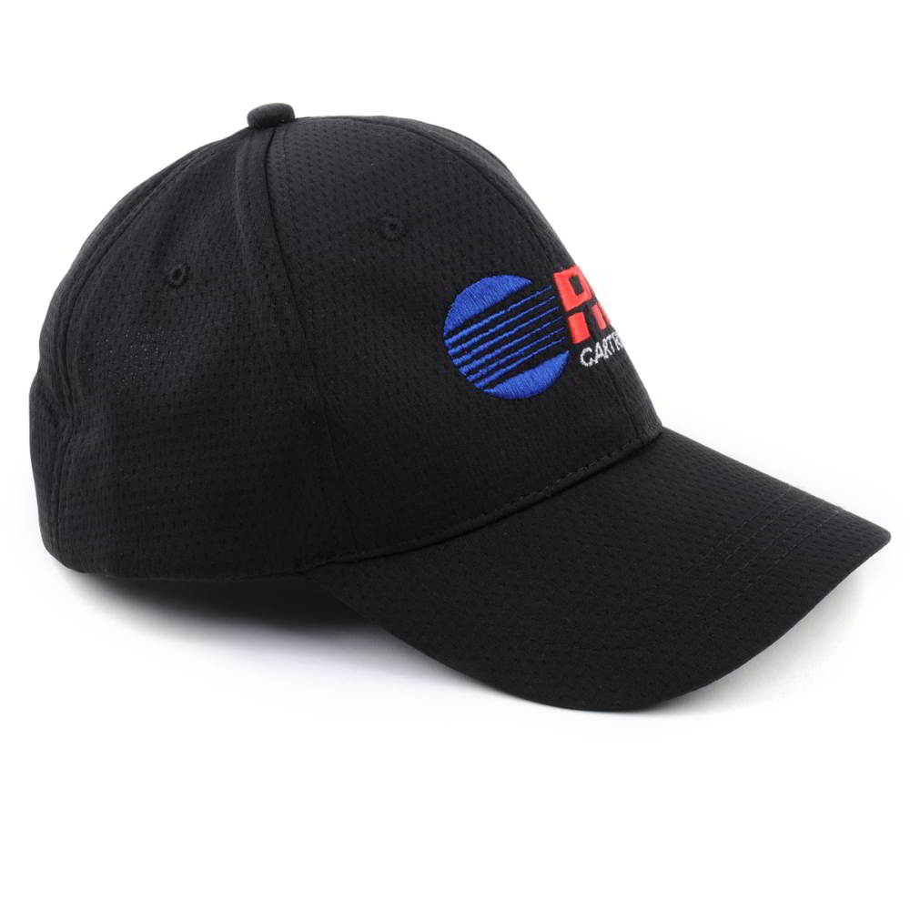 flat embroidery sports black caps design logo