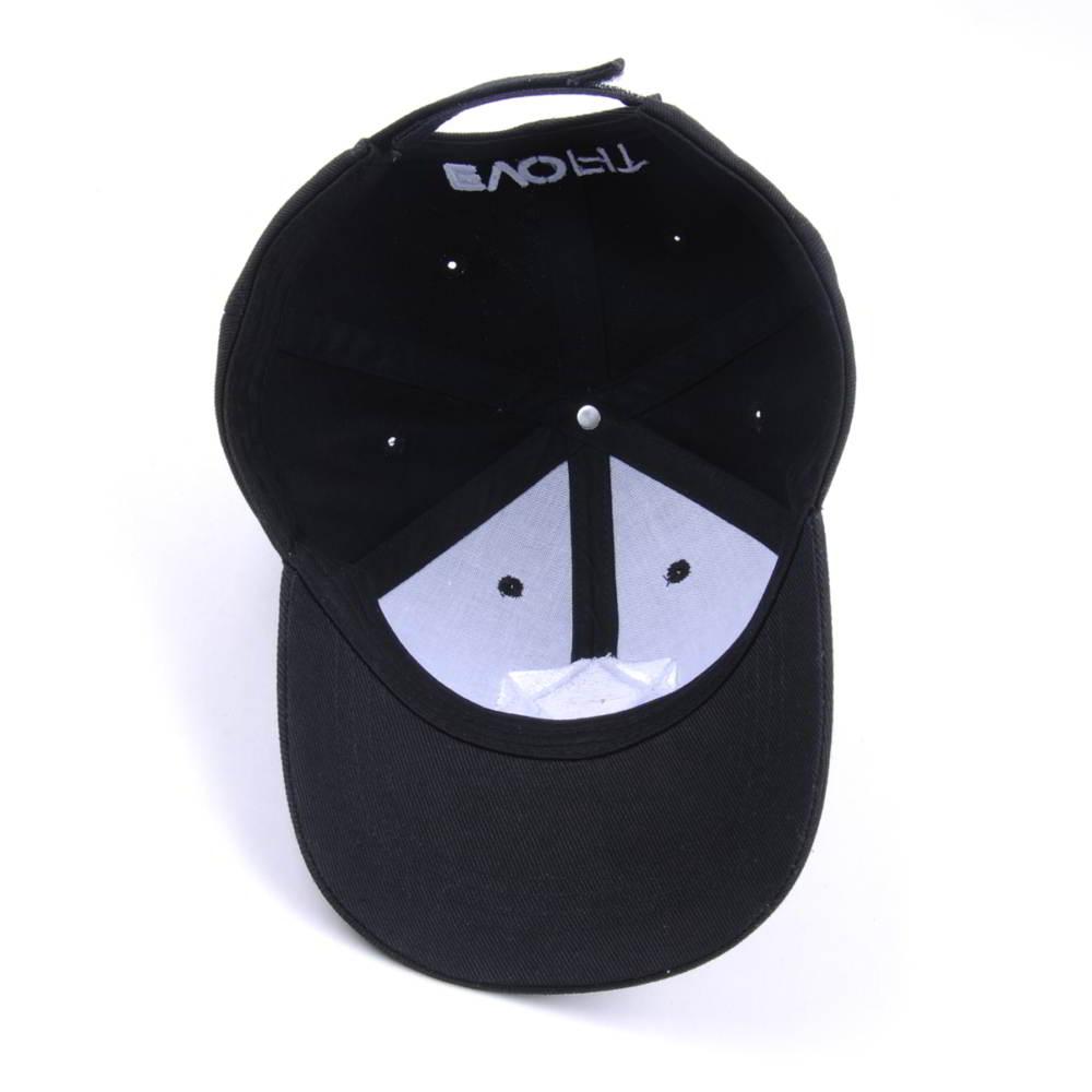 football embroidery sports black baseball caps