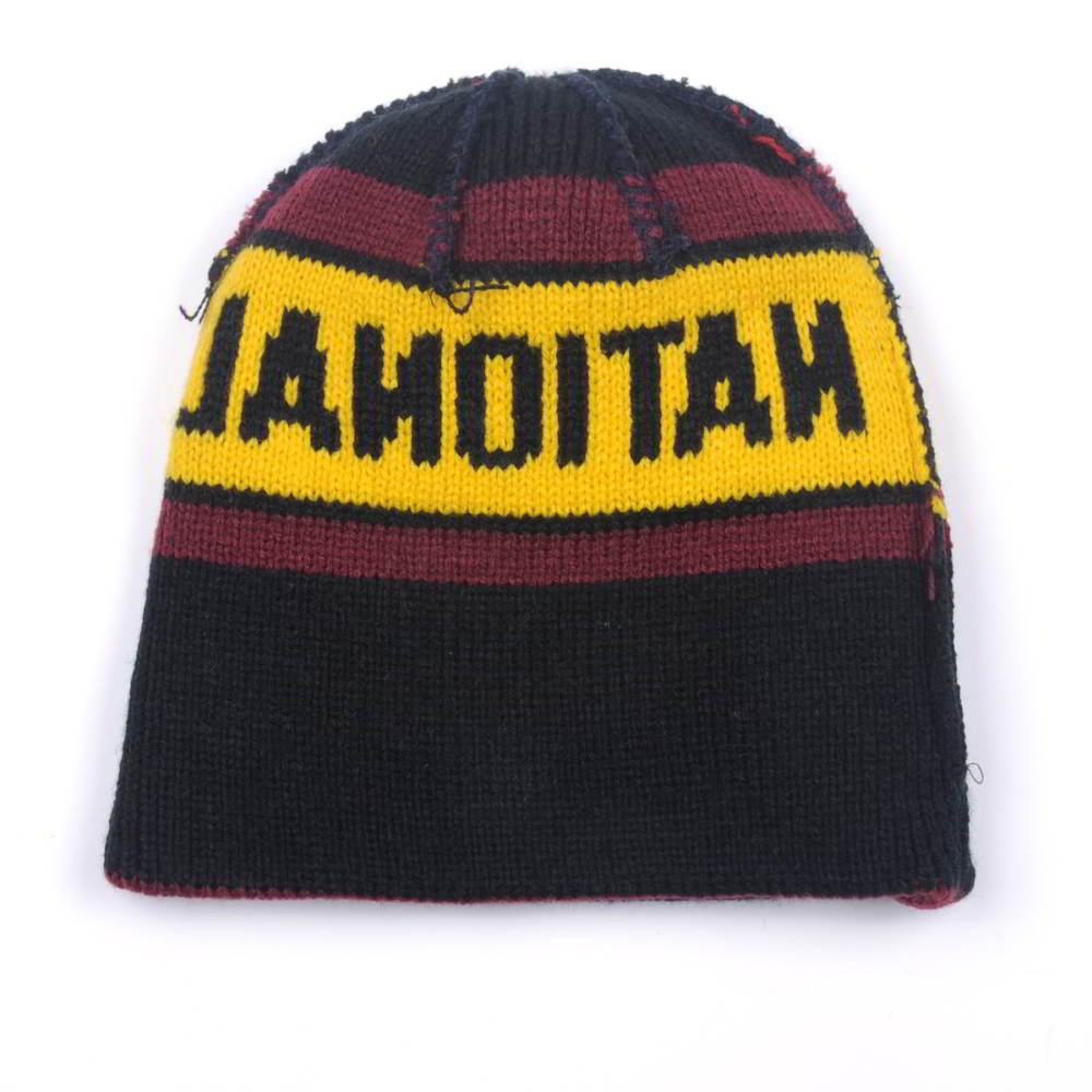 jacquard letters stripes winter beanies custom