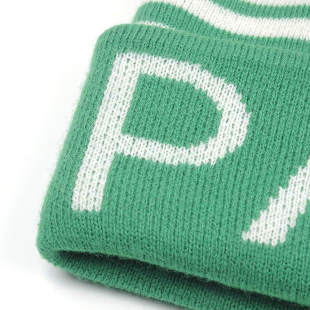 letters jacquard plain winter beanies custom