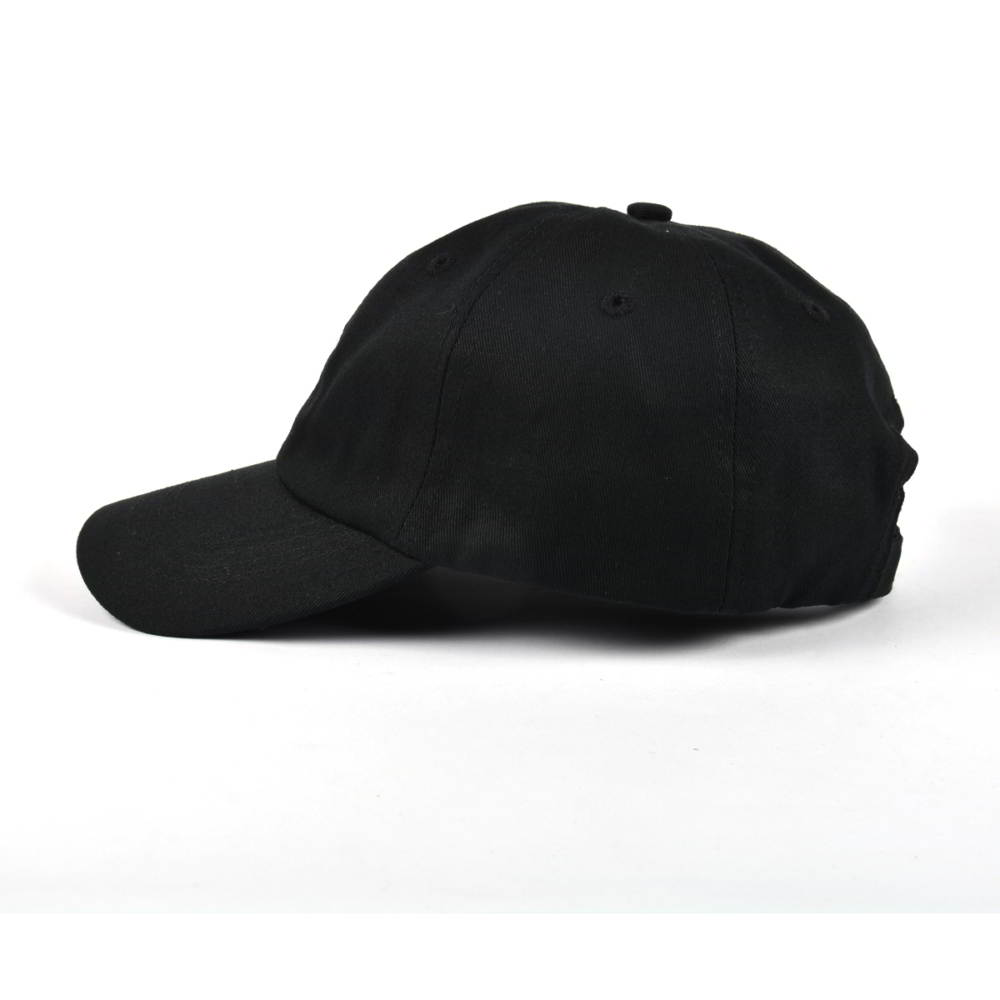 plain embroidery black dad hats baseball caps