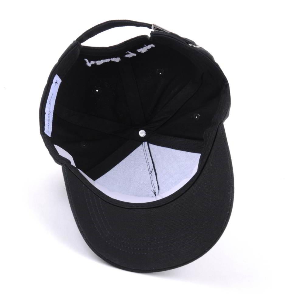 plain embroidery logo black 5 panels baseball caps