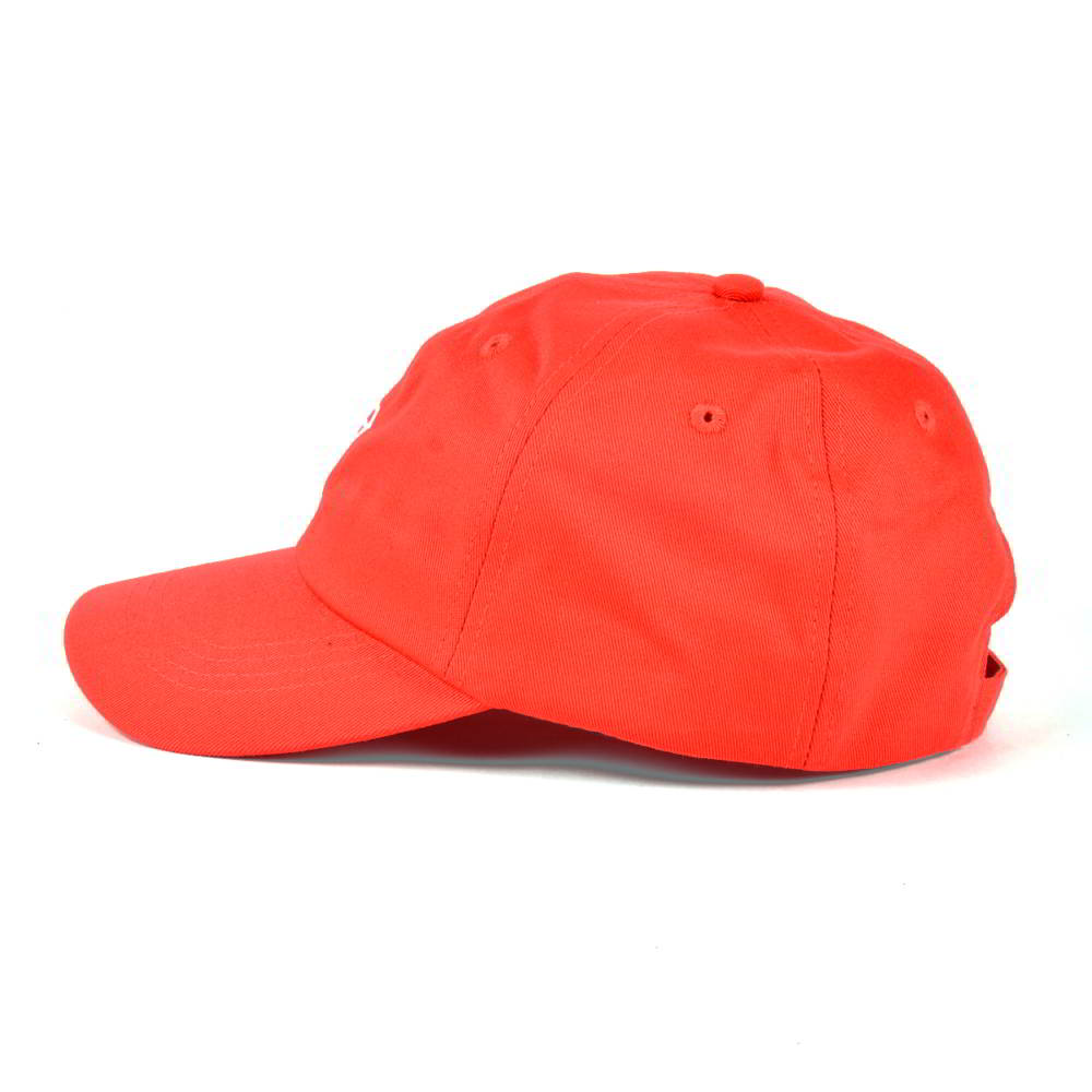 plain embroidery red sports dad hats