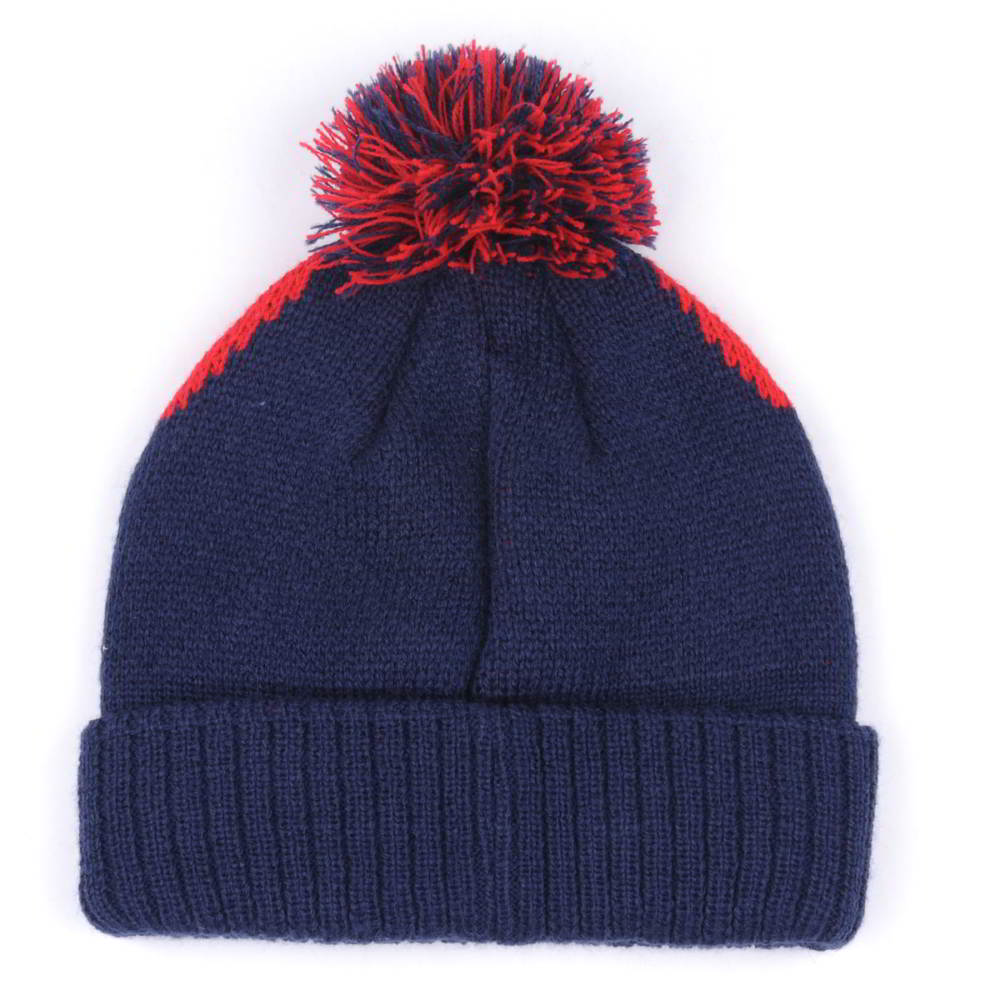 plain jacquard winter caps pom beanies