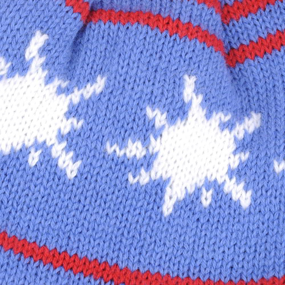 pom warm earflap jacquard logo beanies