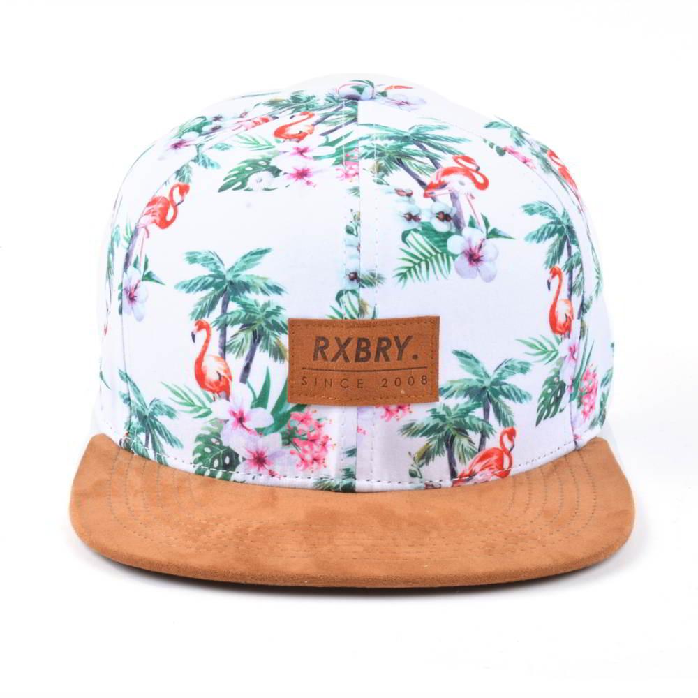 suede brim printed snapback hats custom
